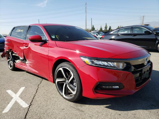 Salvage cars for sale from Copart Rancho Cucamonga, CA: 2020 Honda Accord Sport