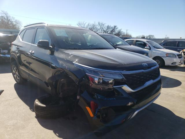 Salvage cars for sale from Copart Wilmer, TX: 2021 KIA Seltos EX