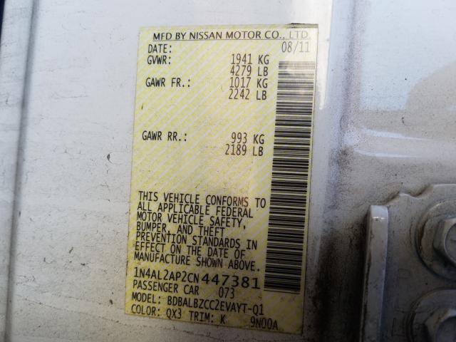 1N4AL2AP2CN447381 2012 Nissan Altima Bas 2.5L