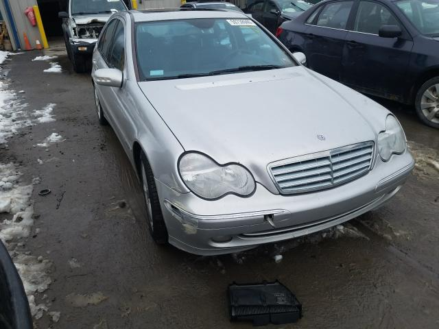 Salvage cars for sale from Copart Duryea, PA: 2004 Mercedes-Benz C