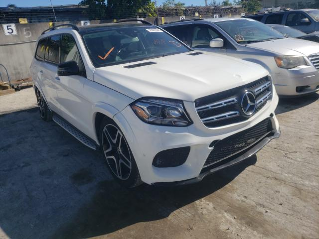 Mercedes-Benz GLS 550 4M salvage cars for sale: 2018 Mercedes-Benz GLS 550 4M