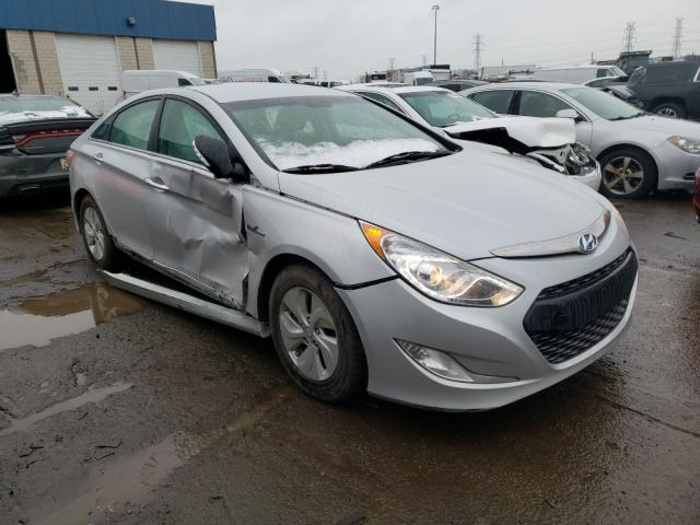 Salvage cars for sale from Copart Woodhaven, MI: 2014 Hyundai Sonata Hybrid