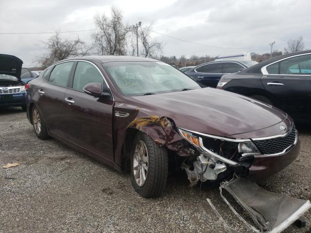 Salvage cars for sale from Copart Baltimore, MD: 2018 KIA Optima LX