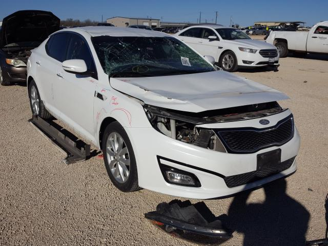 Salvage cars for sale from Copart San Antonio, TX: 2015 KIA Optima EX
