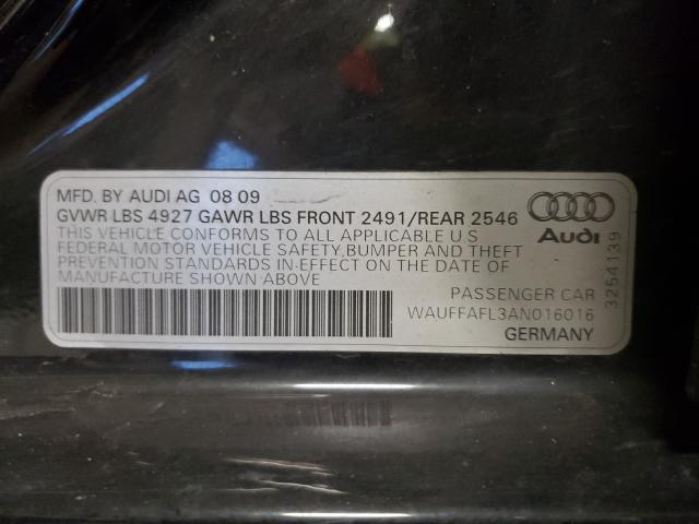 WAUFFAFL3AN016016 2010 Audi A4 Premium 2.0L