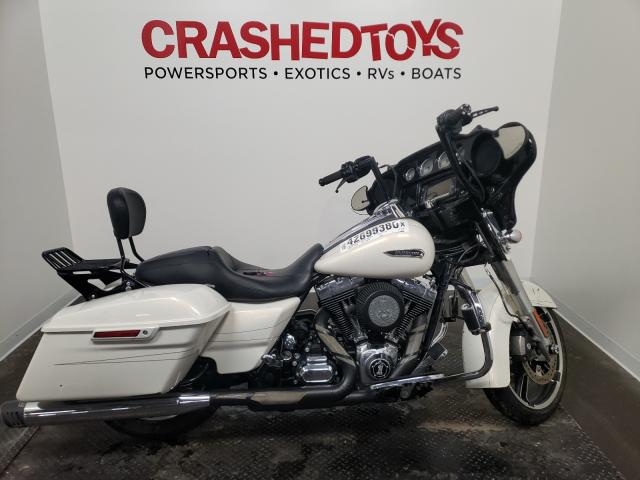 Salvage motorcycles for sale at Ham Lake, MN auction: 2014 Harley-Davidson Flhxs Street