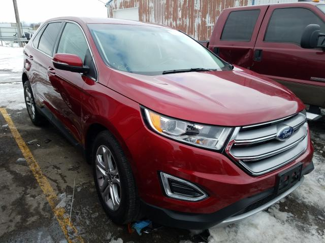 Ford Edge Titanium salvage cars for sale: 2018 Ford Edge Titanium