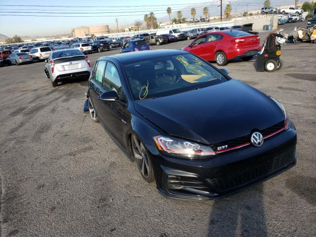 Salvage cars for sale from Copart Colton, CA: 2018 Volkswagen GTI S