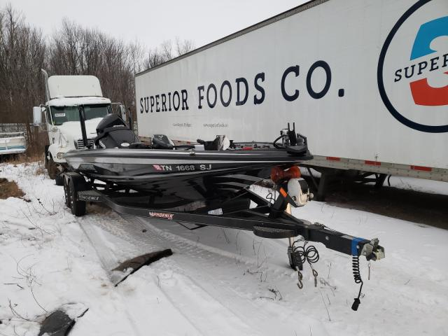 Salvage boats for sale at Portland, MI auction: 2020 Phoenix Boat