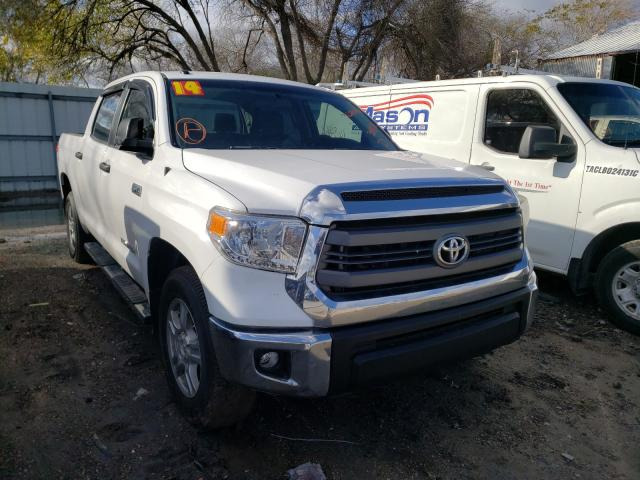 Salvage cars for sale from Copart Corpus Christi, TX: 2014 Toyota Tundra CRE