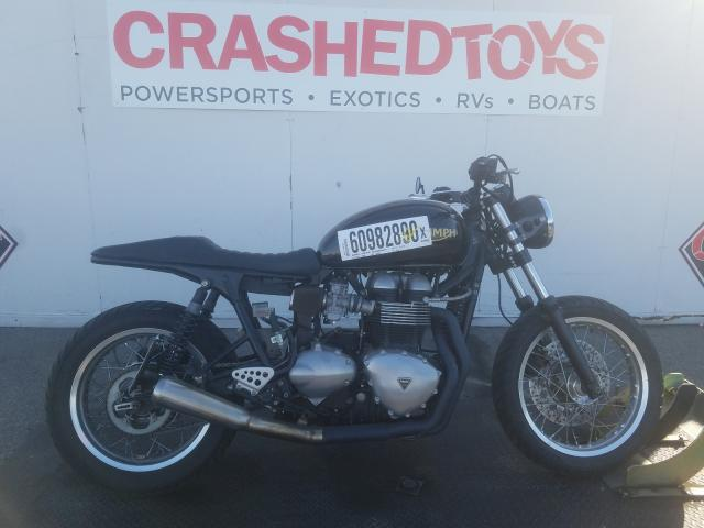 Salvage cars for sale from Copart Van Nuys, CA: 2011 Triumph Thruxton 9