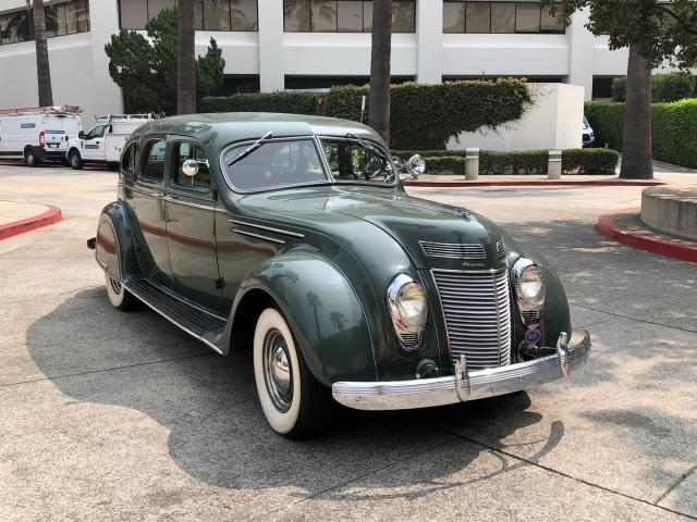 Salvage cars for sale from Copart Sacramento, CA: 1937 Chrysler Airflow