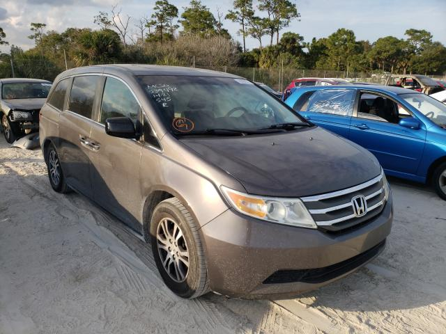 Salvage cars for sale from Copart Fort Pierce, FL: 2012 Honda Odyssey EX