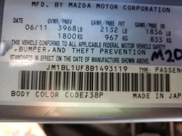 2011 MAZDA MAZDA3 I JM1BL1UF8B1493119
