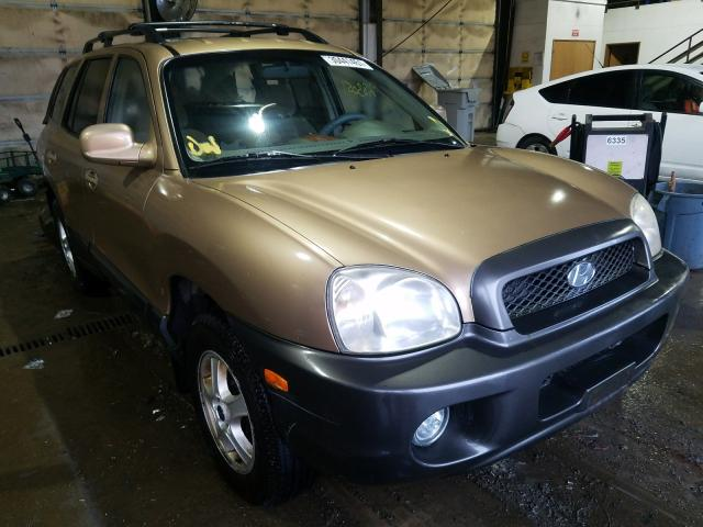 Hyundai Santa FE salvage cars for sale: 2002 Hyundai Santa FE