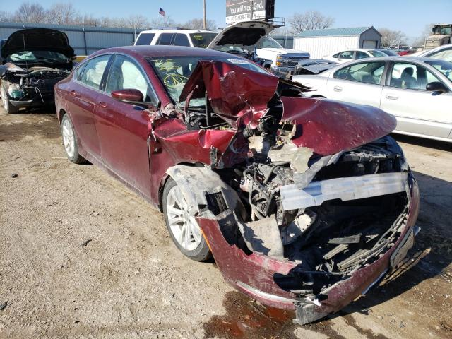 Salvage cars for sale from Copart Wichita, KS: 2015 Chrysler 200 Limited