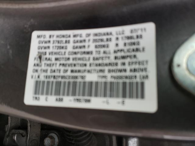 2012 HONDA CIVIC EXL 19XFB2F95CE006782