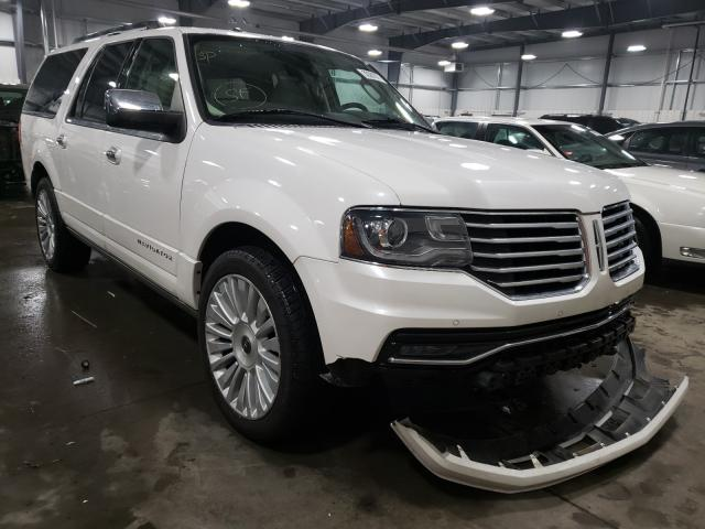 Salvage cars for sale from Copart Ham Lake, MN: 2015 Lincoln Navigator