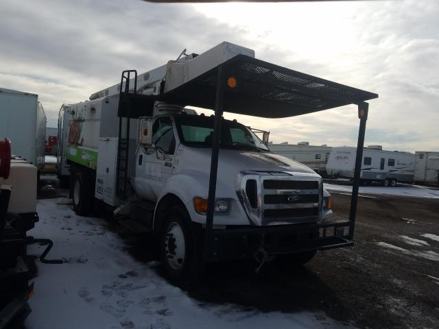 Salvage trucks for sale at Brighton, CO auction: 2012 Ford F750 Super