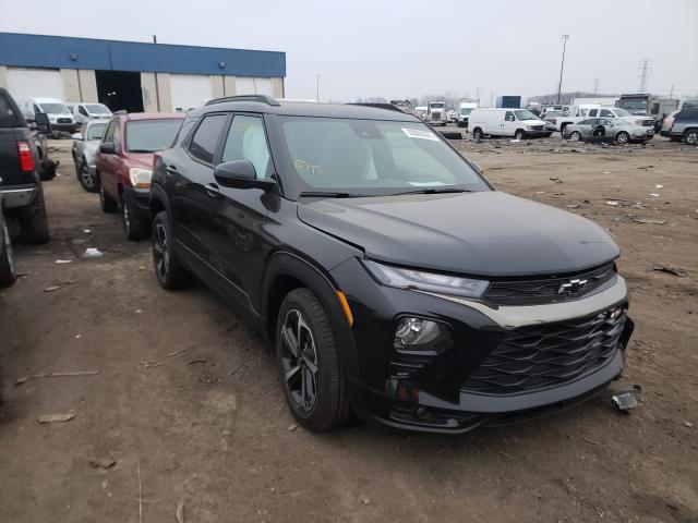 Salvage cars for sale from Copart Woodhaven, MI: 2021 Chevrolet Trailblazer