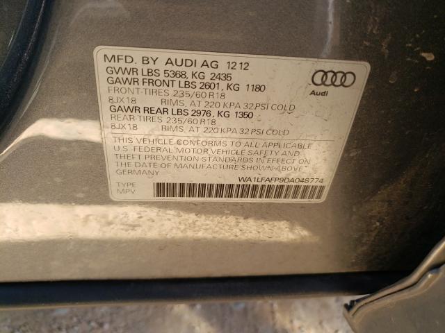 2013 AUDI Q5 PREMIUM WA1LFAFP9DA048774