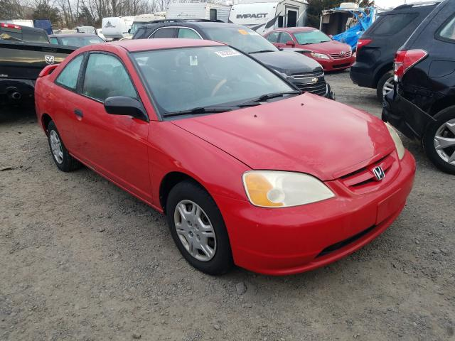 Honda Civic DX salvage cars for sale: 2002 Honda Civic DX