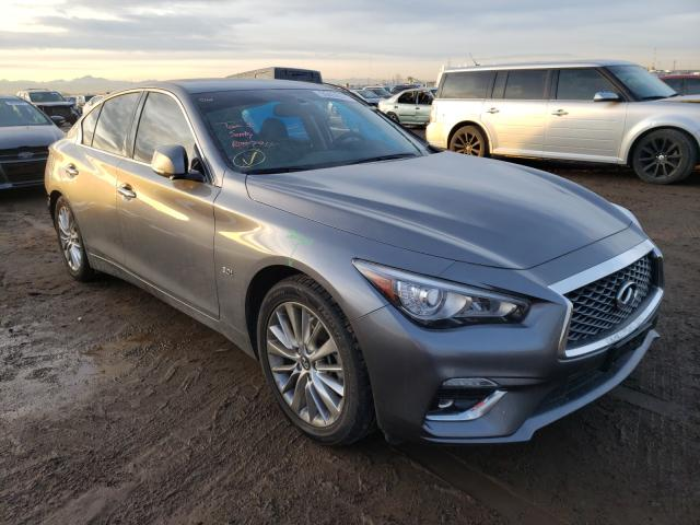 Salvage cars for sale from Copart Brighton, CO: 2019 Infiniti Q50 Luxe