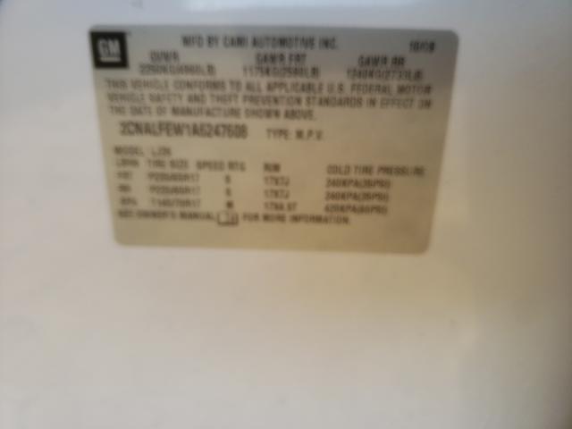 2010 CHEVROLET EQUINOX LT 2CNALFEW1A6247608