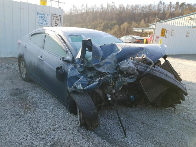 Salvage cars for sale from Copart Hurricane, WV: 2013 Hyundai Elantra GL
