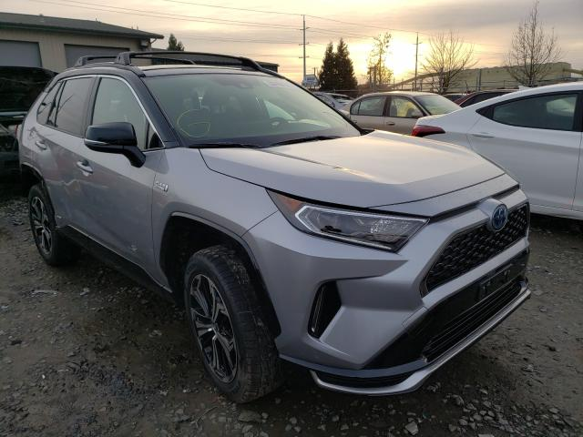 Salvage cars for sale from Copart Eugene, OR: 2021 Toyota Rav4 Prime