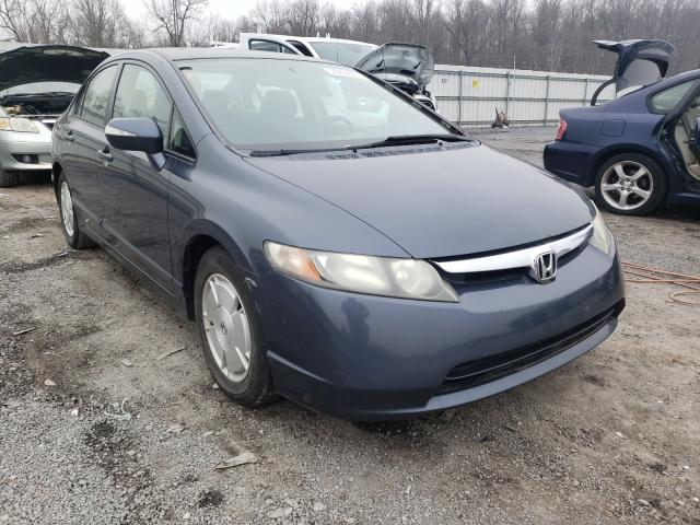 Salvage cars for sale from Copart York Haven, PA: 2006 Honda Civic Hybrid