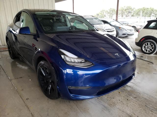 Salvage cars for sale from Copart Homestead, FL: 2021 Tesla Model Y