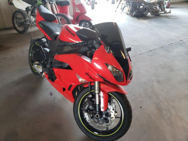 Salvage cars for sale from Copart Oklahoma City, OK: 2010 Kawasaki ZX6R