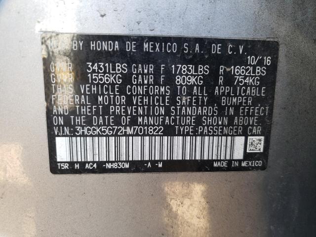 2017 HONDA FIT EX 3HGGK5G72HM701822