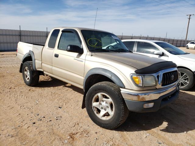 Salvage cars for sale from Copart Andrews, TX: 2002 Toyota Tacoma XTR