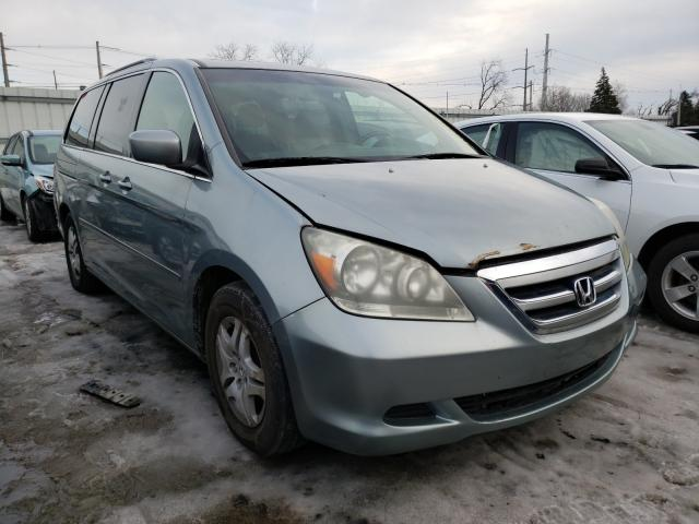 Salvage cars for sale from Copart Lansing, MI: 2006 Honda Odyssey EX