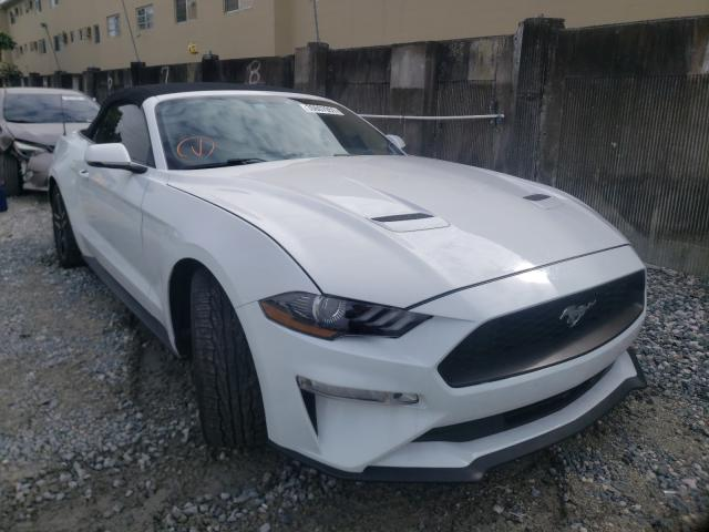 Salvage cars for sale from Copart Opa Locka, FL: 2018 Ford Mustang