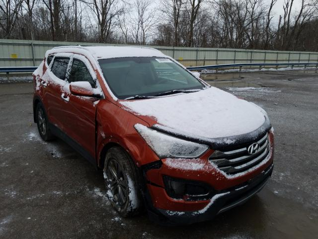 Salvage cars for sale from Copart Ellwood City, PA: 2013 Hyundai Santa FE S
