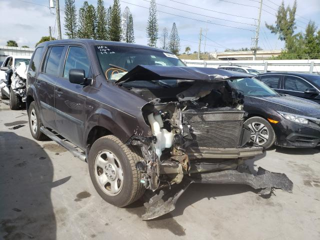 Honda Pilot LX salvage cars for sale: 2012 Honda Pilot LX