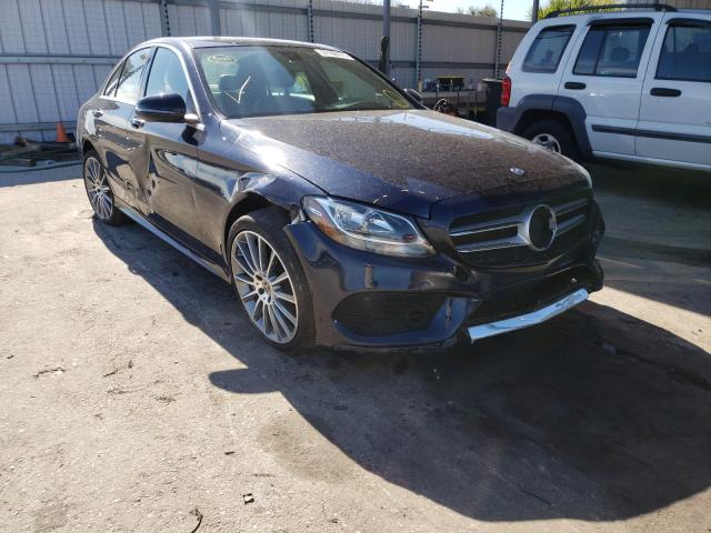 Salvage cars for sale from Copart Orlando, FL: 2017 Mercedes-Benz C300