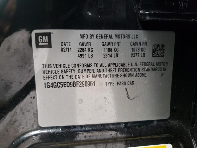 2011 BUICK LACROSSE C 1G4GC5ED9BF290961