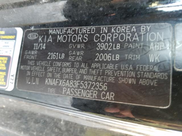 2015 KIA FORTE EX KNAFX6A83F5372356