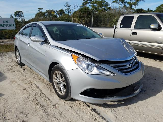 Salvage cars for sale from Copart Fort Pierce, FL: 2014 Hyundai Sonata GLS