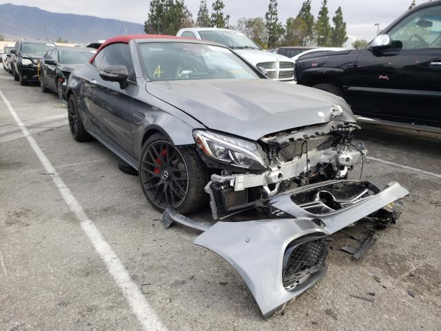 Salvage cars for sale from Copart Rancho Cucamonga, CA: 2017 Mercedes-Benz C 63 AMG-S