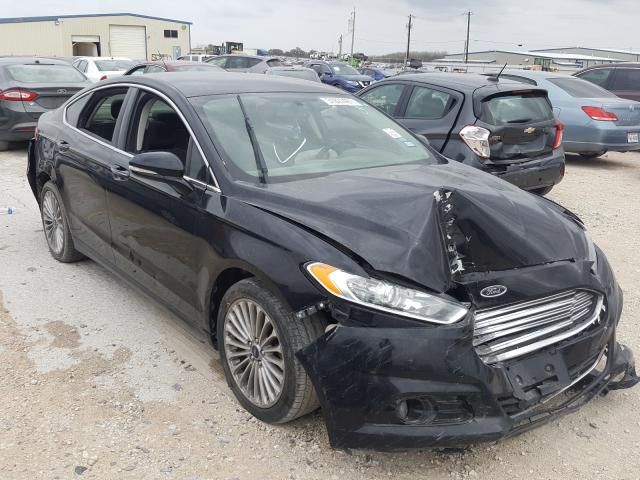 Salvage cars for sale from Copart San Antonio, TX: 2016 Ford Fusion Titanium