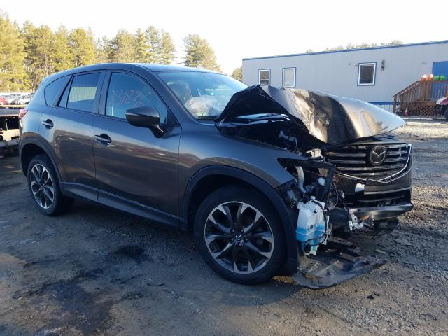 Salvage cars for sale from Copart Lyman, ME: 2016 Mazda CX-5 GT