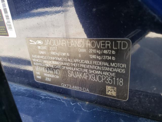 SAJAK4FX9JCP35118 2018 Jaguar Xe Prestig 2.0L