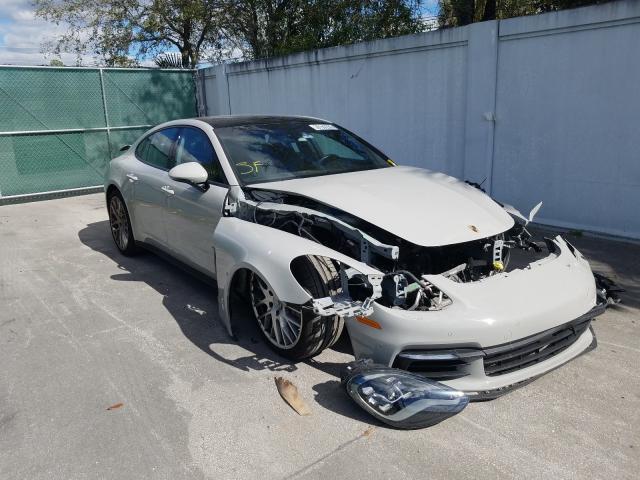 Salvage cars for sale at West Palm Beach, FL auction: 2018 Porsche Panamera 4
