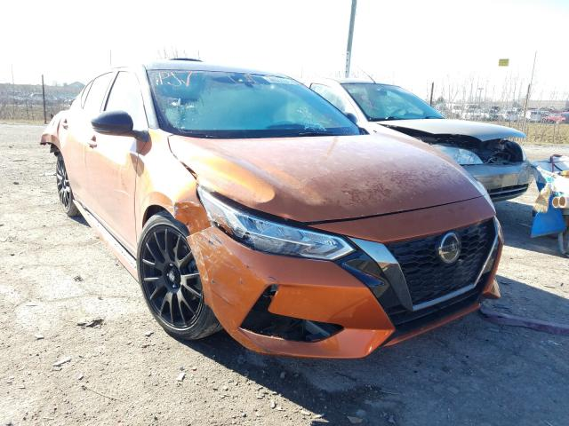 Salvage cars for sale from Copart Indianapolis, IN: 2020 Nissan Sentra SR