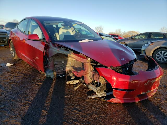 Salvage cars for sale from Copart Columbia Station, OH: 2018 Tesla Model 3